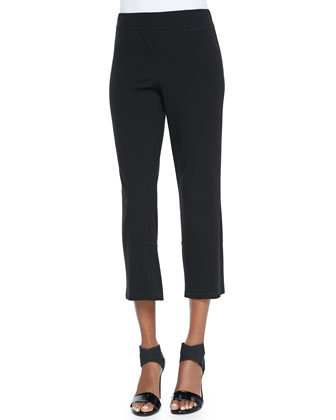 Cropped Stretch Yoga Pants, Petite