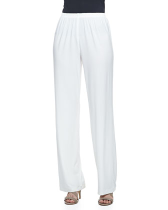 Wide-Leg Pants, White, Petite