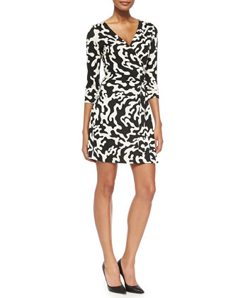New Julian Two Printed Mini Wrap Dress