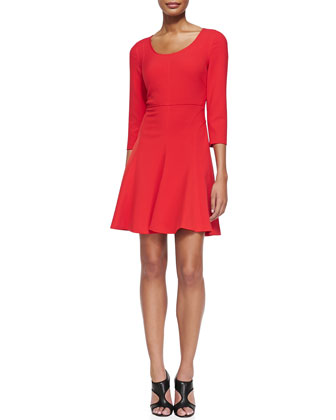 Paloma Scoop-Neck Flare Dress