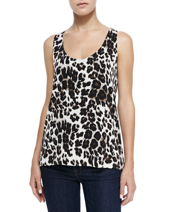 Jackie Cheetah-Print Sleeveless Top