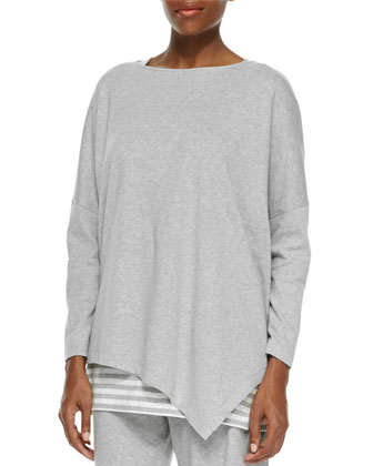 Oversized Asymmetric Cotton Top