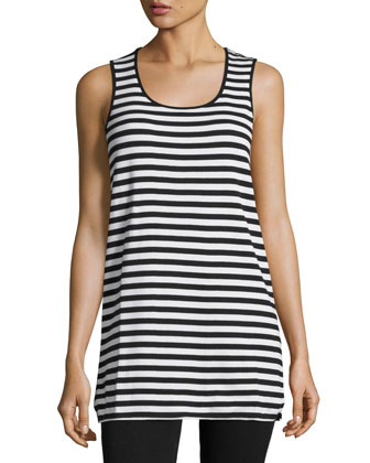 Oversized Asymmetric Cotton Top, Striped Cotton Tank, Full-Length Jog ...
