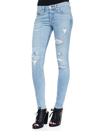 Skinny La Costa Repair Jeans