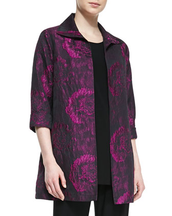 Flower Burst Party Jacket, Knit Tunic/Tank & Stretch-Knit Slim Pants