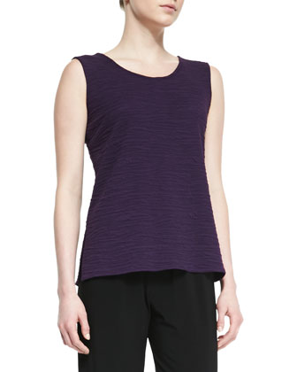 Textured Knit Tank Top, Women's