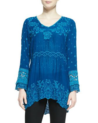 Amilia Georgette Embroidered Tunic, Women's