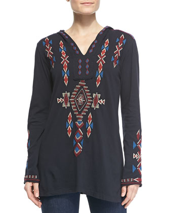 Elaine Embroidered Relaxed Hoodie, Women's