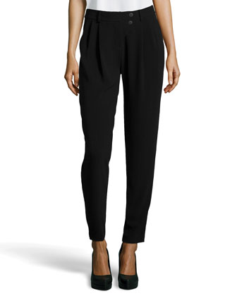 Tapered-Leg Ponte Pants