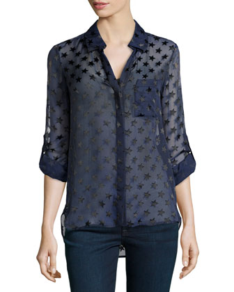 Lorelei Two Star Blouse, Ink Black