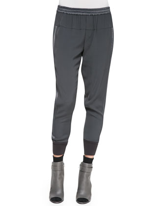 Ribbed-Cuff Jogger Pants