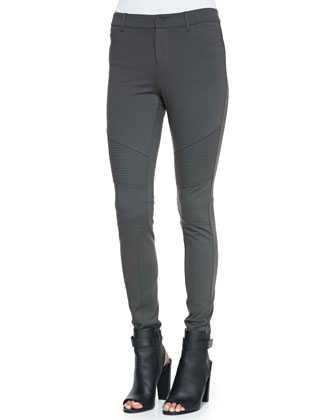 Stretch-Knit Moto Leggings