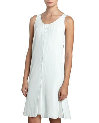 Split Panel Tank Dress, Chlorine