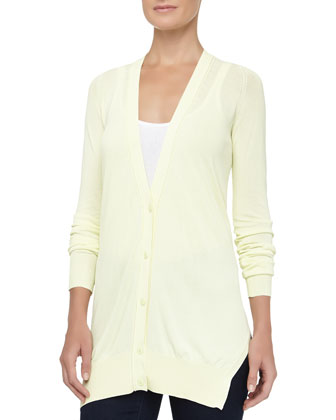 Fine Gauge Jersey Cardigan, Highlight