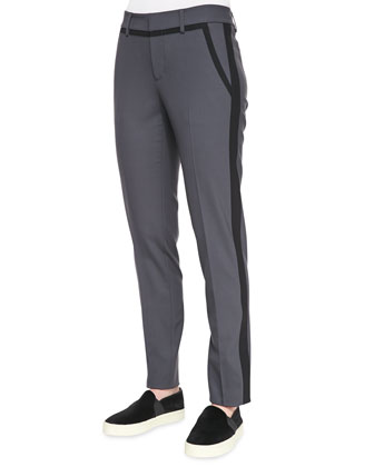 Nautical Strapping Pants, Slate/Black