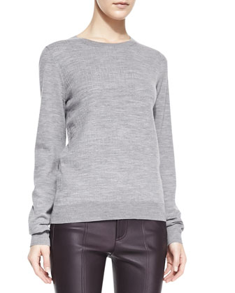 Textured Jacquard Knit Sweatshirt