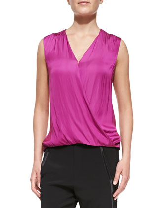 Silk Surplice Cami Blouse