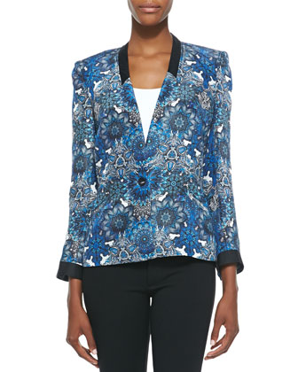 Mandala Wet-Print Jacket