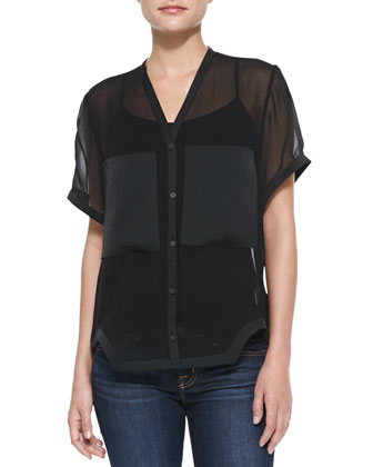Plasma Boxy Top, Black