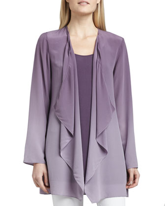 Ombre Silk Jacket, Women's