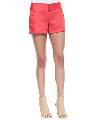 Rolled-Sleeve Front-Pocket Tee & Cady Cuffed Shorts