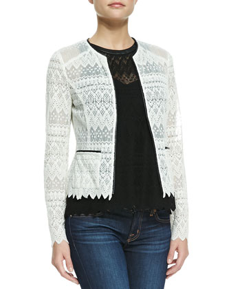 Journey Lace Contrast-Hem Jacket