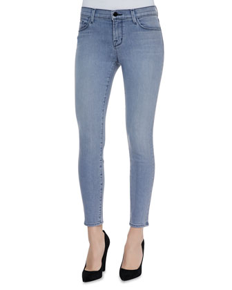 Mid Rise Cropped Denim Jeans