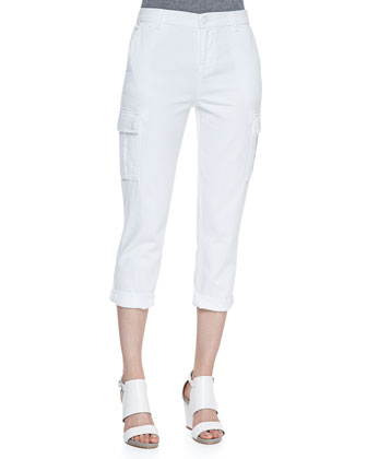 Dylan Pure White Cargo Pants