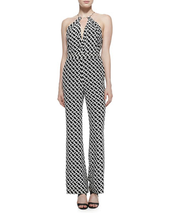 Ireland Silk Chain Link Jumpsuit