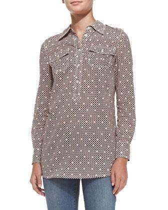 Brigitte Cotton Short-Sleeve Tunic
