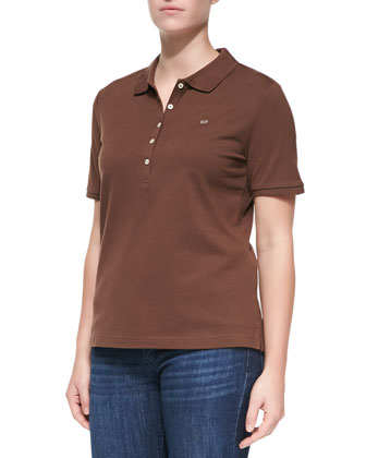Short-Sleeve Polo, Brown