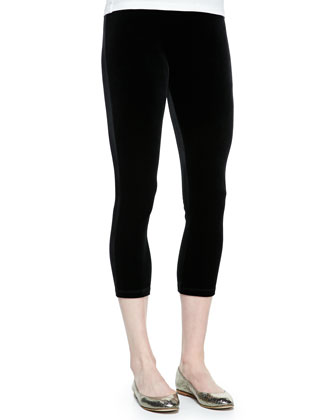 Cropped Velour Leggings