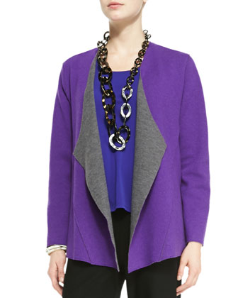 Felted Merino Jacket, Ultraviolet/Ash, Women's