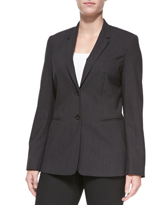 Bulca Two-Button Blazer, Anthra