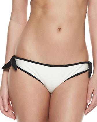 Two-Tone Bandeau Swim Top & Side-Tie Swim Bottom