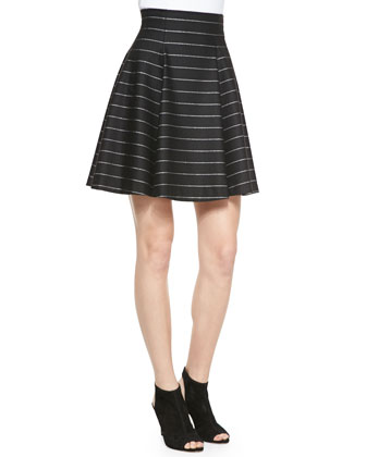 Pharl High-Waist Flared Skirt