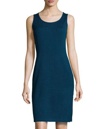 Scoop-Neck Knit Tank Dress, Sapphire