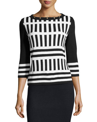 Santana Knit Striped Sweater