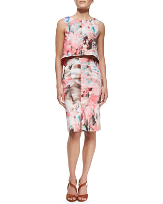 Kacie Two-Piece Printed Dress