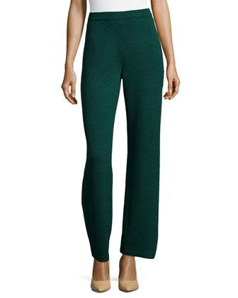 Santana Knit Basic Pants, Emerald