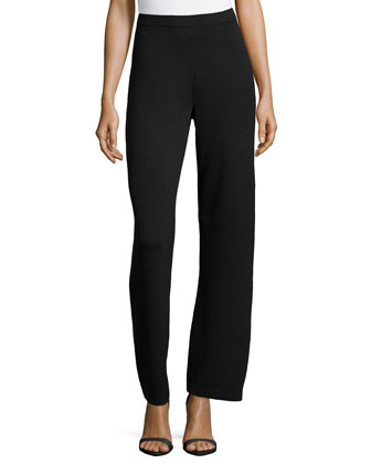 Santana Knit Basic Pants, Onyx
