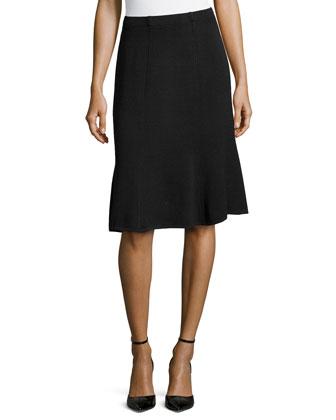 Santana Fit & Flare Skirt, Onyx