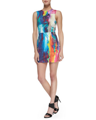 Innocent Kiss Sleeveless Heliconia-Print Dress