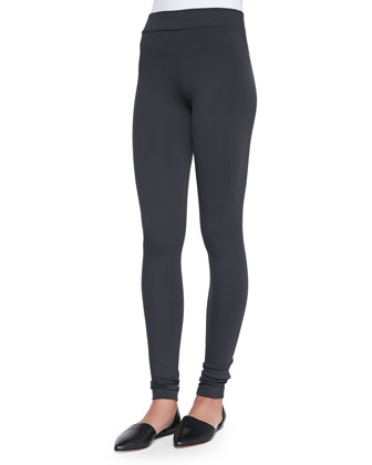 Scrunch-Ankle Leggings, Charcoal