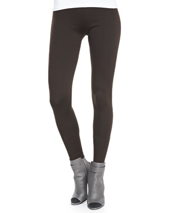 Front Seam V-Neckline Cashmere Sweater & Scrunch Ankle Jersey Leggings