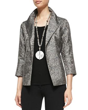 Silk Jacquard Jacket, Petite
