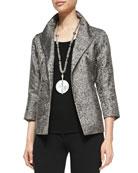 Silk Jacquard Jacket, Women's