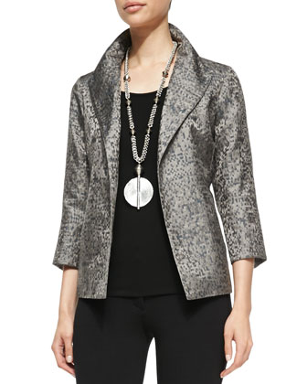 Silk Jacquard Jacket, Women's