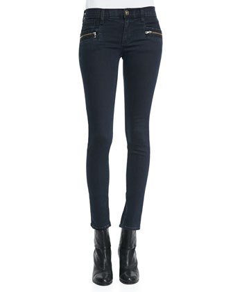 Chimera Blue Wild Zipper-Detail Skinny Jeans