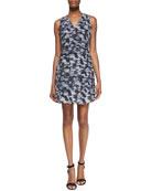 Summer Storm Printed-Silk Sleeveless Dress